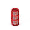 """Amiad cil.zeef tbv kunststof filter 1"""", d x l = 50 x 125 mm, zeefperforatie 0,13 mm, rood"""