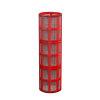 """Amiad cil.zeef tbv kunststof filter 3"""", d x l = 100 x 370 mm, zeefperf. 0,13 mm, rood"""