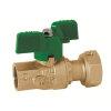 """RIV messing kogelafsluiter voor ingang watermeter, type 5110, 2x bi.dr., volle doorl., ½"""" x ¾"""""""
