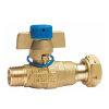 """RIV Messing-Kugelhahn für Wasserzählereingang, Typ5136, AGx IG, voller Durchfluss ¾""""x 1"""""""