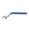 """Stalen handgreep, blauw, type 9008, geschikt voor RIV kogelafsluiters ¼"""", 3/8"""" en ½"""""""
