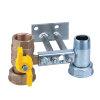 """RIV beugel voor gasmeter, type 7623, 2x bi.dr., standaard doorlaat, 1"""" x 1¼""""(DN22) x 1"""" x 1¼"""""""