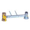 """RIV beugel voor gasmeter, type 7641, 2x bi.dr., standaard doorlaat, 1"""" x 1¼"""" (DN20) x 1"""" x 1¼"""""""