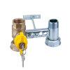 """RIV beugel voor gasmeter, type 7664, 2x bi.dr., standaard doorlaat, ¾"""" x 1¼"""" x ¾"""" x 1¼"""""""