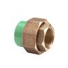 "Kryoclim 3-delige koppeling, hpf/messing, inwendig lijm x binnendraad, 40 mm x 1¼"""