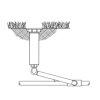 "Vyr Swing Joint, flexibele sproeier aansluitbuis, pp, 5,5 bar, 2x bu.dr., ½"", l = 30 cm"