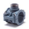 """Unidelta pp aanboorzadel, 1x binnendraad,  blauw, incl. bouten en moeren, 110 mm x 1"""""""