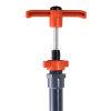 VDL pvc messchuifafsluiter met verlengde as, 2x inwendig lijm, 110 mm, asl = 2000 mm
