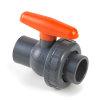 VDL pvc kogelafsluiter, 2x inwendig lijm/1x wartel, 16 bar, 16 mm, epdm