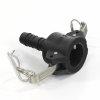 Camlock V-deel met slangtule, pp, type C, 13 mm
