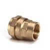 "Isiflo messing schroefkoppeling, Kiwa/GASTEC QA, klem x binnendraad, 40 mm x 1¼"""
