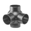 Pe afvoerkogel T-stuk 2-voudig 88,5°, 90°, 4x spie, KOMO, 110 x 110 mm
