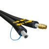 Armacell Armaflex DuoSolar VA voorgeïsol. rvs ribbelslang, met hoge temp isolatie, DN20 x 14mm, 20m