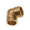 Bonfix Messing-Lötbogen 90°, Messing, Kiwa ATA/Gastec QA, 2x Innenkapillar, 35 mm