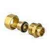 Bonfix messing 3-delige soldeerkoppeling, Gastec, 2x inwendig capillair, 12 mm