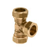 Bonfix messing T-stuk 90°, 3x knel, 12 mm, Kiwa ATA / Gastec QA