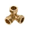 Bonfix Messing-T-Eckstück 90°, Kiwa ATA/Gastec QA, 3x QV, 15x15x15mm