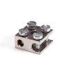 Messing radiatorklem, recht, 1 x 6 + 1 x 16 mm²