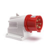 Gewiss CEE-toestelcontactdoos, 400 V, 3-polig + N + A, 16 A, rood