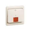 Peha Standard klemwip met centraalplaat, rode lens tbv schakelaar met controlelamp, 2-polig, wit