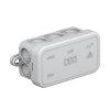 OBO kabeldoos, pe, type A6, IP55, 400 V, 10 kabelinvoeren, 80 x 43 x 34 mm, lichtgrijs
