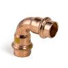 Viega Profipress gas bocht 90° met SC-Contur, type 2616, 28 mm