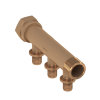 TECEflex sanitairverdeler, brons, 16 mm, 2-groeps