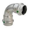 Viega Sanpress bocht 90° met SC-Contur, rvs, type 2316, 28 mm