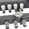 Regelunit voor vloerverwarming, 5000, A-label pomp, dubbel afsluitbaar, 6-groeps