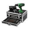 Hitachi accu boor-schroefmachine, 18 V, 1.500 mAh, type DS18DJL, incl. koffer en bitset