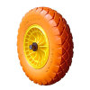 Tufx compleet wiel t.b.v. kruiwagen, massief, oranje, grote noppen