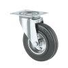 TENTE zwenkwiel, rubber, plaatbevestiging, 160 mm