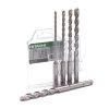 Hitachi/HiKOKI betonborenset, type SDS-Plus, 5-delig, 5-6-8-10-12 x 160 mm