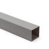 Hwa buis, vierkant, pvc, grijs, 100 x 100 mm, l = 4 m