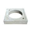 Fundatieplaat, beton, t.b.v. ronde putafdekking, voor schachtdiameter 630 mm, 900 x 900 x 120 mm