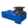 Waterhergebruiksysteem, 5.000 liter, Varitank Flatline, Trident 150 filter