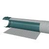 Infiltratiebuis omwikkeld met geotextiel, 200/30, l = 5 m