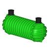 Regenwatertank, polyetheen, 22.000 liter, 628 x 231 x 235 cm, incl. deksel, ondergronds