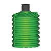 Regenwatertank, pe, 10.000 liter, 231 x 302 cm verticaal, incl. deksel, ondergronds / bovengronds