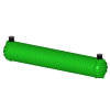 Regenwatertank, polyetheen, 50.000 liter, 1349 x 231 x 235 cm, incl. deksel, ondergronds