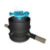 Varitank filterschacht 150/325, incl. telescopische pvc buis 110-220 cm, 2x aansluiting 110/125 mm