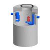 Betonnen olieafscheider Integr.Euromal+, coating, klasse B 125kN, 6 ltr/sec. slibvang 600 ltr. CE