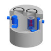 Betonnen coalescentieafs.Integr.Euromal+, coating, klasse D 400kN, 25 ltr/sec. slibvang 2500 ltr.CE