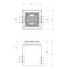 Betonnen controleput, kl.D 400kN, 800x800x870 mm, aansl. Ø200 mm, (gelijke hoogte), vergrendeld