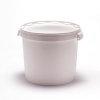 Cilindrische emmer, pp, inclusief deksel met garantiesluiting, 32,9 liter, wit