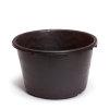 Speciekuip, zwaar polyetheen, zwart, 45 liter