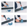 """Unidelta pp aanboorzadel, 1x binnendraad,  blauw, incl. bouten en moeren, 110 mm x 1""""  detailimage_001 100x100"""