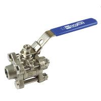 Rvs 3-delige kogelafsluiter, type V301BW, 2x las