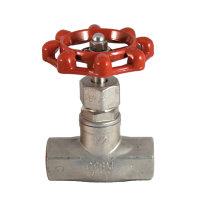 Rvs bolklepafsluiter, type V601, 2x binnendraad