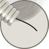 Snelflex voorbedrade flexibele buis, met installatiedraad, Eca